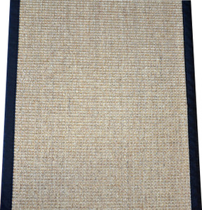 "Dean Desert/Black Natural Sisal Hall/Entrance/Landing Slip Resistant Carpet Runner Rug 29""x8'"