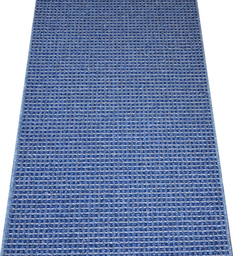 Washable Non Skid Carpet Rug Runner Michelle Blue 5