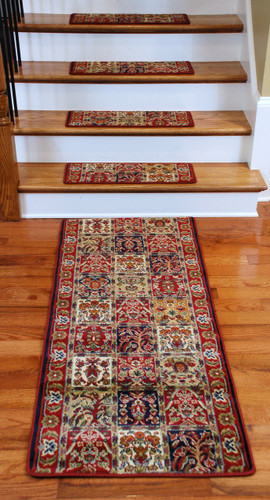 Premium Carpet Stair Treads Panel Red Plus A Matching 5