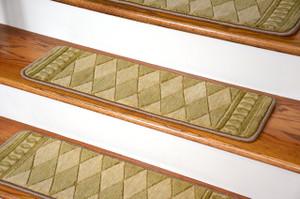 Dean Premium Wool Non-Slip Carpet Stair Treads - Marquis Honey (Set of 13)