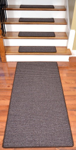 Washable Non-Skid Carpet Stair Treads - Cobbler Brown (15) PLUS a Matching 5' Runner