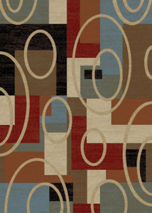 "Dean Broadway Multi Modern Area Rug 5'3"" x 7'7"" (5x8)"