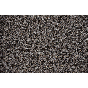 Safari Platinum Plush 5' x 7' Serged Carpet Area Rug