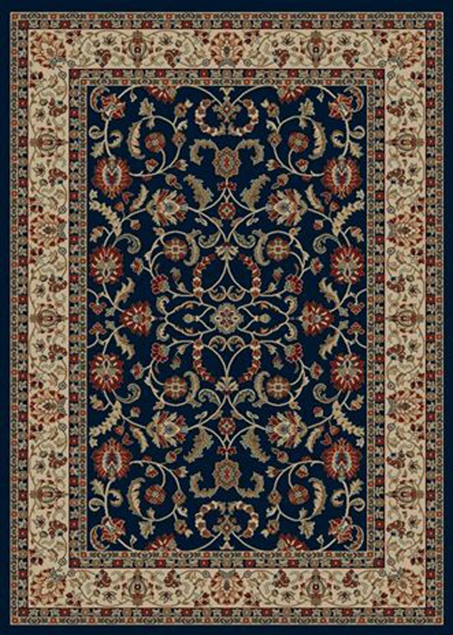 Dean Classic Keshan Navy Blue Oriental Area Rug 5 3 Quot X 7 7
