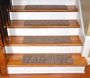 "Dean Premium Stair Gripper Tape Free Non-Slip Pet Friendly DIY Carpet Stair Treads 30""x9"" (15) - Safari Brown"
