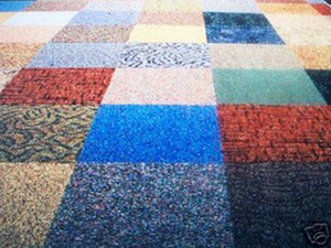 "Commercial Carpet Tile - Random Assorted Colors - 60 Square Feet - (15) 24"" x 24"" Pieces"