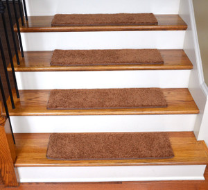 "Dean Ultra Premium Stair Gripper Non-Slip Tape Free Pet Friendly DIY Carpet Stair Treads/Rugs 30"" x 9"" (15) - Color: Pumpkin Spice"