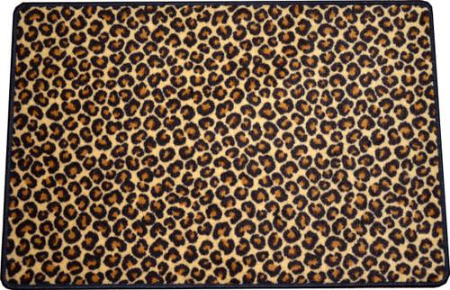 Dean Leopard Animal Print 2 X 3 Carpet Mat Accent Rug