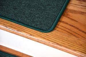 "Dean Serged DIY Carpet Stair Treads 27"" x 9"" - Emerald Green - Set of 13"