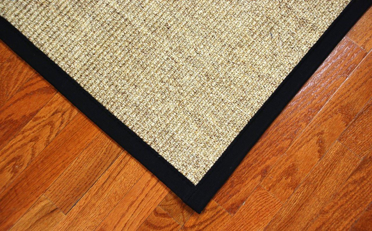 Natural Sisal Rug Desert Black Dean Flooring Co