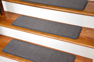 "Dean Premium Stair Gripper Tape Free Non-Slip Pet Friendly DIY Carpet Stair Treads 30""x9"" (15) - Luxor Gray"