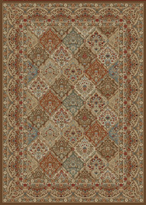 "Dean Panel Kerman Chocolate Oriental Area Rug 5'3"" x 7'7"" (5x8)"