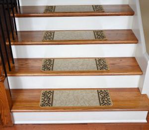 Dean Washable Non-Skid Carpet Stair Treads - Garden Path Beige (13)