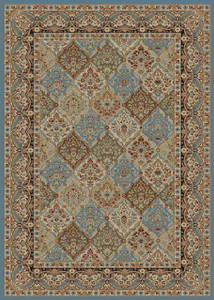"Dean Panel Kerman Cloude Oriental Area Rug 5'3"" x 7'7"" (5x8)"