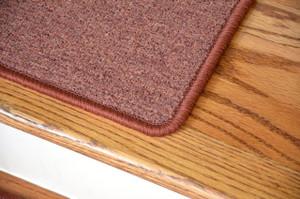"Dean Serged DIY Carpet Stair Treads 27"" x 9"" - Terra Cotta - Set of 13"