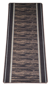 Washable Non-Skid Carpet Rug Runner - Boxer Chocolate (5')