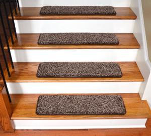 """Dean Premium Stair Gripper Tape Free Non-Slip Pet Friendly DIY Carpet Stair Treads 30""""x9"""" (15) - Quail Hollow Brown 70 oz."""