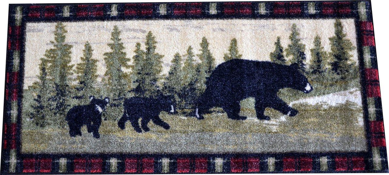 Washable Non Slip Quot Following Mama Quot Cabin Bear Kitchen Door