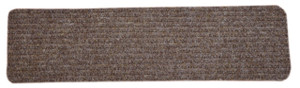 Dean Carpet Stair Treads/Runners/Mats/Step Covers - Brown Ribbed Indoor/Outdoor Non-Skid Slip Resistant Rugs