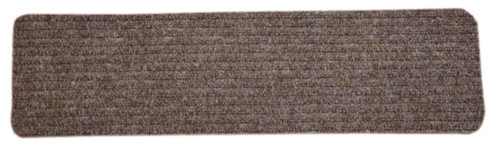 Dean Carpet Stair Treads/Runners/Mats/Step Covers   Brown Ribbed  Indoor/Outdoor Non Skid Slip Resistant Rugs
