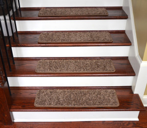 "Dean Premium Stair Gripper Tape Free Non-Slip Pet Friendly DIY Carpet Stair Treads 30""x9"" (15) - Rivers Edge"
