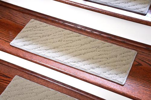 Dean Indoor/Outdoor Carpet Stair Treads - Set of 3, Gray