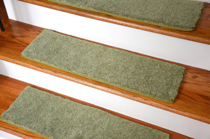 "Dean Ultra Premium Stair Gripper Non-Slip Tape Free Pet Friendly DIY Carpet Stair Treads/Rugs 30"" x 9"" (15) - Color: Citrus Green"