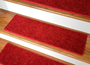 """Dean Ultra Premium Stair Gripper Non-Slip Tape Free Pet Friendly DIY Carpet Stair Treads/Rugs 30"""" x 9"""" (15) - Color: Fire Engine Red"""