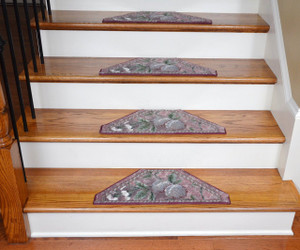 Washable Non-Skid Carpet Stair Treads - Spring Fruit II (13)