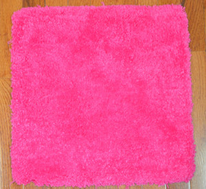Dean Lavish Shaggy Carpet Tile Squares/Shag Rug - Pink with Velcro Backing