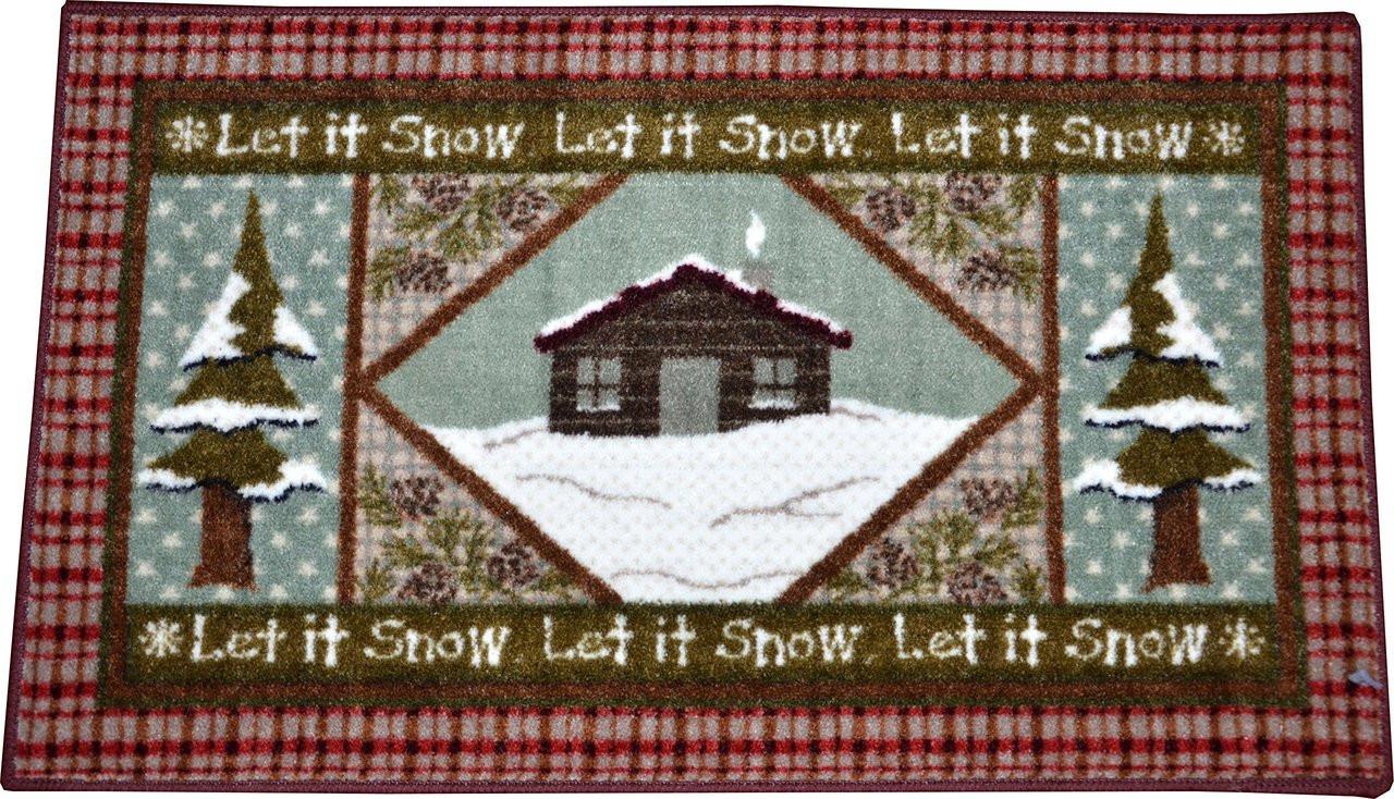Dean Washable Non Skid Quot Let It Snow Quot Christmas Accent