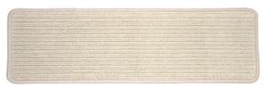 "Dean Premium Wool Blend Non-Skid Carpet Stair Treads/Runner Rugs - Casual Sisal Beige 30"" x 9"" Set of 15"