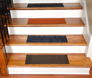 "Dean Affordable DIY Non-Skid Carpet Stair Treads (Set of 13) 23"" x 8"" - Color: Mosaic"