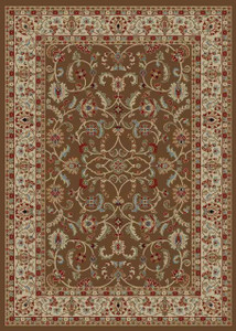 "Dean Classic Keshan Chocolate Brown Oriental Area Rug 5'3"" x 7'7"" (5x8)"