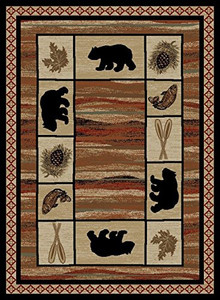 "Dean Vogel Bear Lodge Cabin Bear Area Rug Size: 7'10"" x 9'10"" (8x10)"