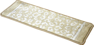 "Dean Kenya Halo Beige Leopard Ultra Premium Stair Gripper Non-Slip Tape Free Pet Friendly DIY Nylon Carpet Stair Treads/Rugs 27"" x 9"" (15)"