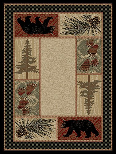 Dean Cade S Cove Bear Lodge Cabin Wildlife Area Rug 7 10