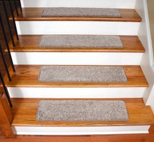 "Dean Premium Stair Gripper Tape Free Non-Slip Pet Friendly DIY Carpet Stair Treads 30""x9"" (15) - Mainstream Beige"