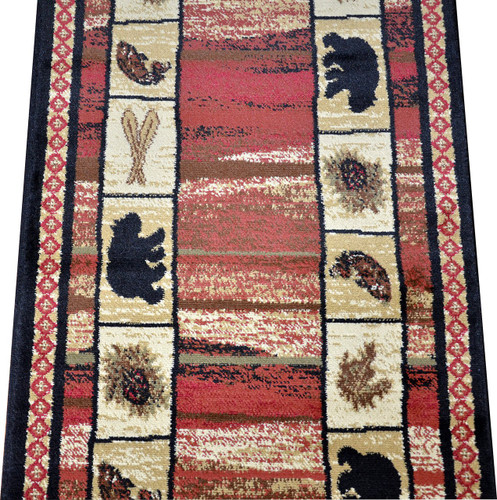 Dean Vogel Bear Lodge Cabin Bear Panel Carpet Runner Rug
