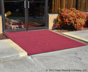 Dean Indoor/Outdoor Carpet/Rug - Burgundy - 6' x 30' with Marine Backing