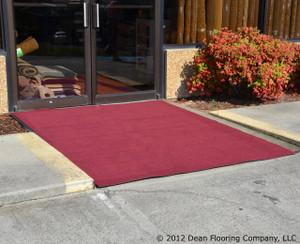 Dean Indoor/Outdoor Carpet/Rug - Burgundy - 6' x 35' with Marine Backing