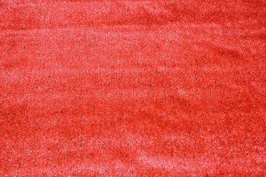 Dean Flooring Company Indoor/Outdoor Red Artificial Grass Turf Area Rug 6' x 25'