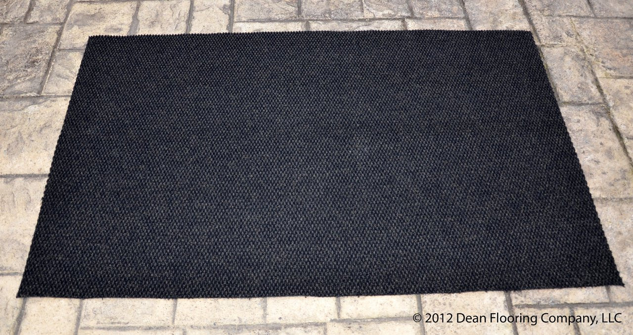 Dean 3 X 5 Indoor Outdoor Black Carpet Door Mat Rug
