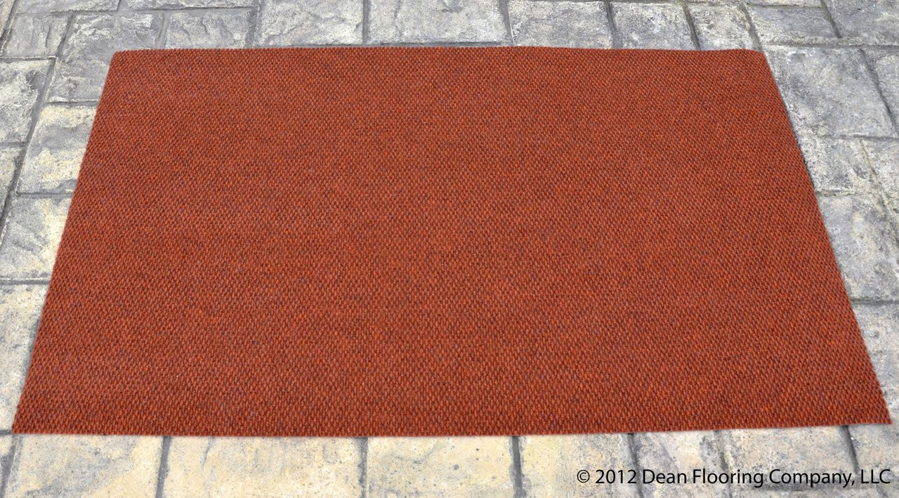 Dean 3 X 5 Indoor Outdoor Terra Cotta Carpet Door Mat