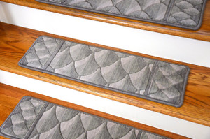 "Dean Premium New Zealand Wool Carpet Stair Treads - Shadowscape Alpine (Set of 15) 30"" x 9"""