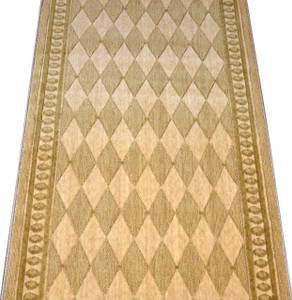 "Dean Marquis Honey 30""W Wool Carpet Rug Runner by the foot - Choose Your Length!"