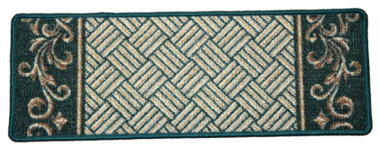 Dean Washable Non Skid Carpet Stair Treads Hunter Green