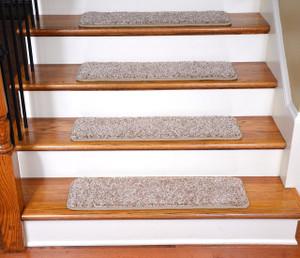 """Dean Premium Stair Gripper Tape Free Non-Slip Pet Friendly DIY Carpet Stair Treads 30""""x9"""" (15) - Mediterranean Beige 70 oz."""