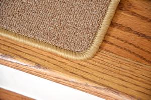"""Dean Serged DIY Carpet Stair Treads 27"""" x 9"""" - Golden Camel - Set of 13"""