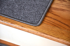 "Dean Serged DIY Carpet Stair Treads 27"" x 9"" - Steel Gray - Set of 13"